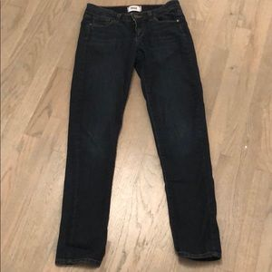 PAIGE Dark Denim Skinny Jeans